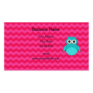 Galones lindos del rosa del búho tarjetas de visita