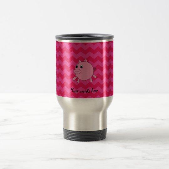Galones lindos del rosa del cerdo taza de viaje