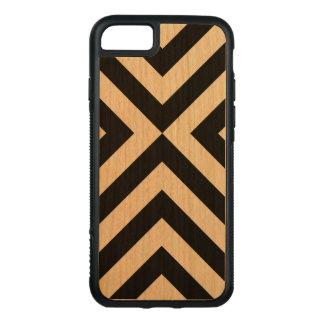 Galones negros en la madera de la cereza funda para iPhone 8/7 de carved