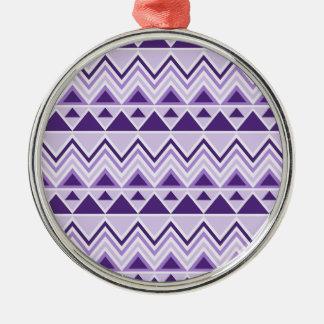 Galones tribales aztecas de los triángulos de las  ornamentos de navidad