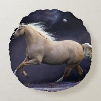 galope del caballo cojín redondo
