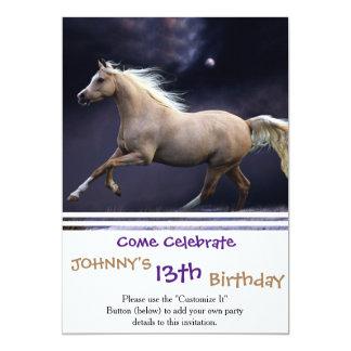 galope del caballo invitación 12,7 x 17,8 cm