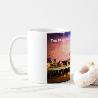 Galveston, diseño del embarcadero del placer de TX Taza De Café