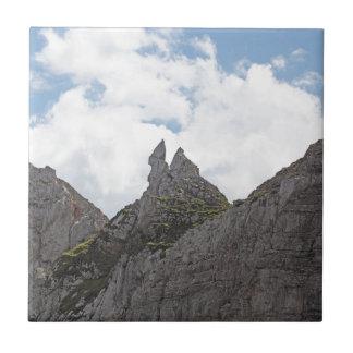 Gama de Karwendel en las montañas bávaras Azulejo De Cerámica