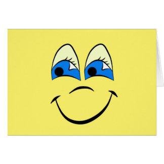 Gama feliz de la cara tarjetón