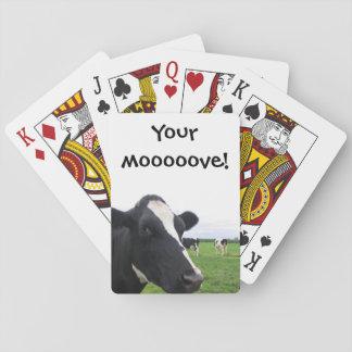 Ganado chistoso del animal del granero de la baraja de cartas