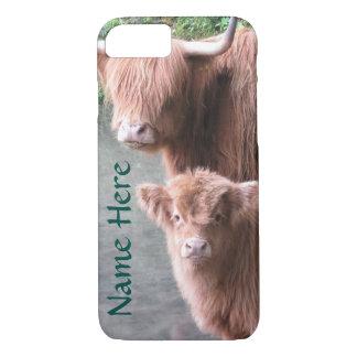 Ganado, vaca y becerro escoceses de la montaña funda iPhone 7