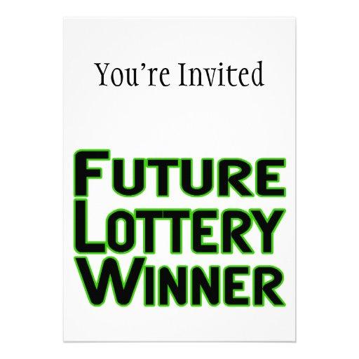 Ganador de lotería futuro comunicados personalizados