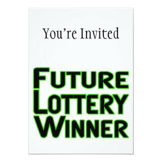 Ganador de lotería futuro invitación 12,7 x 17,8 cm