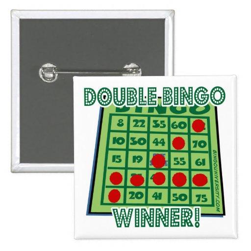 ¡Ganador del bingo del doble del botón del bingo! Pin