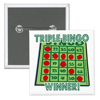 ¡Ganador del bingo del triple del botón del bingo! Pin