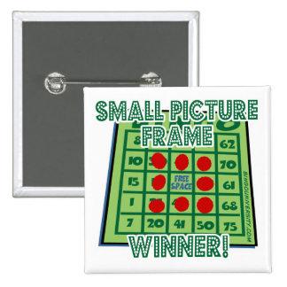 ¡Ganador del marco del botón del bingo pequeño!