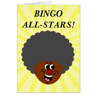 Ganador del premio de la noche del bingo del centr tarjeta
