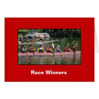 Ganadores de la raza tarjeta de felicitación