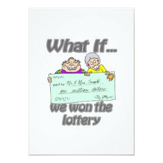 Ganadores de lotería invitación 12,7 x 17,8 cm