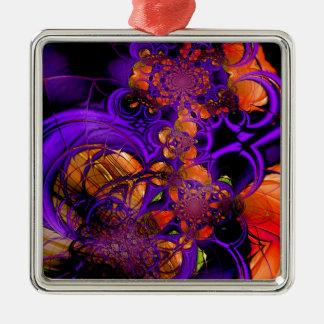Ganchillo anaranjado púrpura Zizzago del metal del Ornaments Para Arbol De Navidad