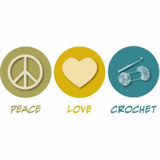 Ganchillo del amor de la paz esculturas fotograficas