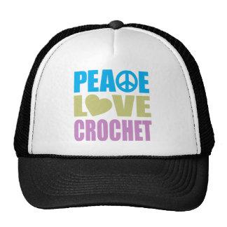 Ganchillo del amor de la paz gorro
