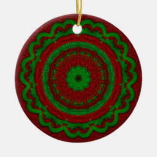 Ganchillo del navidad adorno redondo de cerámica