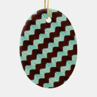 Ganchillo del zigzag de Chevron Ornaments Para Arbol De Navidad