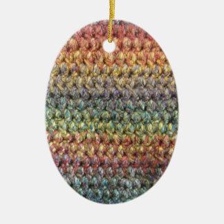 Ganchillo hecho punto rayado multicolor adorno para reyes