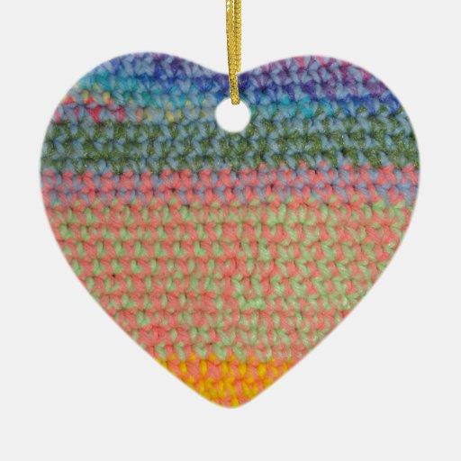 Ganchillo multicolor ornamento para reyes magos