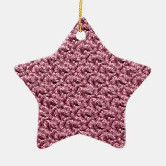 Ganchillo rosado ornamento para arbol de navidad