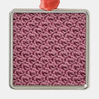 Ganchillo rosado adorno para reyes