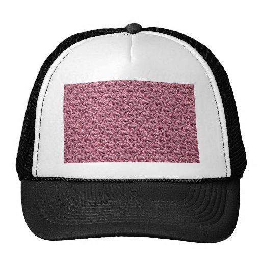 Ganchillo rosado gorro de camionero