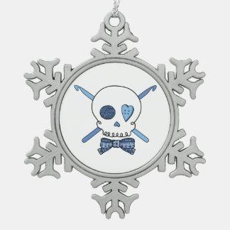 Ganchos del cráneo y de ganchillo (azules) adornos