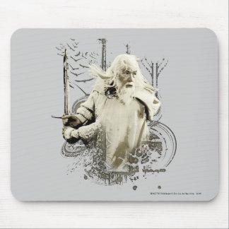 Gandalf con collage del vector de la espada alfombrilla de ratón