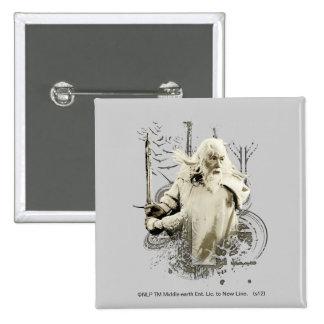 Gandalf con collage del vector de la espada chapa cuadrada
