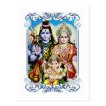 Ganesh, Shiva y Parvati, señor Ganesha, Durga Tarjeta Postal