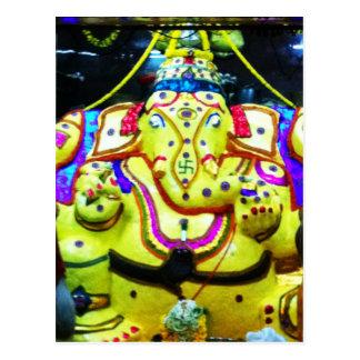 Ganesha adornado postal
