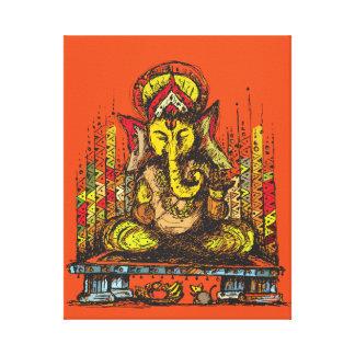 Ganesha del señor lienzo