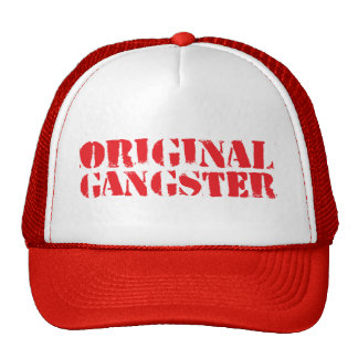 Gángster original gorros bordados