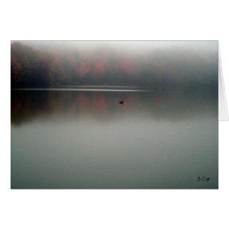 Ganso en la niebla, S Cyr Tarjeta