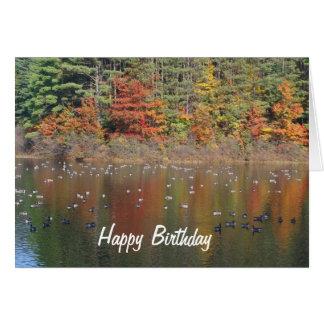 Gansos de Canadá en tarjeta de cumpleaños de la
