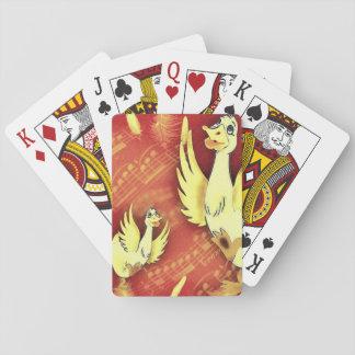 Gansos de la música de la diversión baraja de cartas