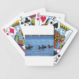 Gansos en el lago baraja de cartas bicycle