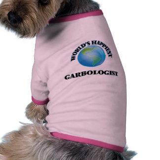 Garbologist más feliz del mundo camiseta con mangas para perro