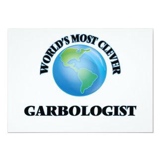 Garbologist más listo del mundo invitación 12,7 x 17,8 cm