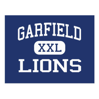 Garfield - leones - alto - San Diego California Tarjeta Postal