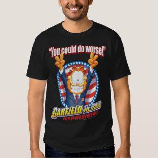 Garfield para el presidente en 2016 camiseta