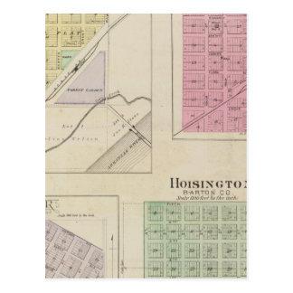 Garfield, roca del Pawnee, Heizer, Hoisington, Kan Postal
