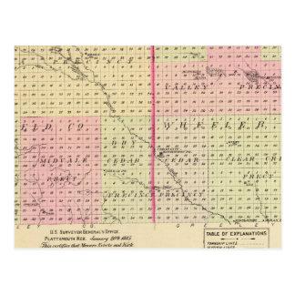 Garfield y el condado de Wheeler, Nebraska Postal