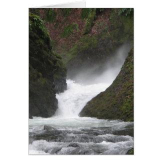 Garganta de Columbia de la cascada Tarjeta De Felicitación