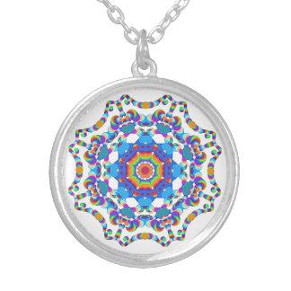 Garganta mágica Chakra de la mandala del *~* Collar Plateado