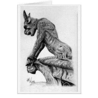 Gargoyle 1 tarjeta de felicitación