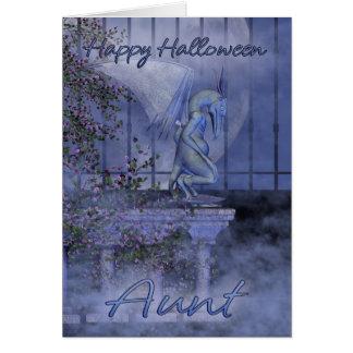 Gargoyle de la tía feliz Halloween Tarjeta De Felicitación